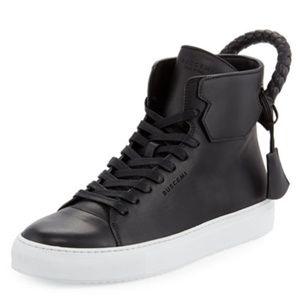 Buscemi 125mm Weave Black/White womens sneakers